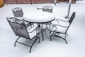 storing patio furniture in winter