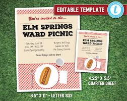 Ward Picnic Flyer And Poster Editable Template