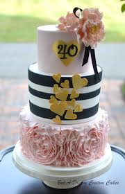 40th Birthday Cake Cake By Elisabeth Palatiello Cakesdecor
