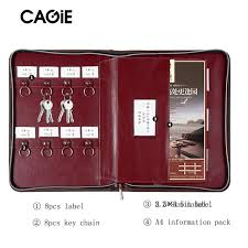 office key holder. CAGIE Key Holder A4 File Zipper Folder Multifunction Real Estate Company Office Manager Business Padfolio