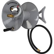 strongway parallel or perpendicular wall mount garden hose reel holds 5 8in x 150ft hose northern tool equipment