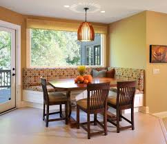 dining room banquette furniture. Stylish And Comfy Dining Room With Banquette Bench : Marvelous Design Brown Wooden Furniture