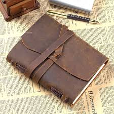 handmade vintage leather journal diary notebook
