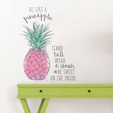 wallpops pink be like a pineapple wall e