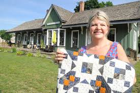 Sewing up a niche market | Simcoe Reformer & Lana Thomson runs Quilt Junction in the historic train station in downtown  Waterford. She is Adamdwight.com