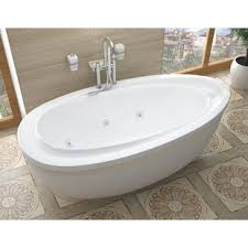 Jetted freestanding tubs Bathroom Capricia 71 Wayfair Freestanding Jetted Tub Wayfair