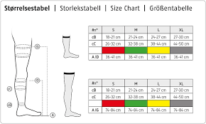 Unfolded Ted Size Chart Kendall Ted Stockings Size Chart