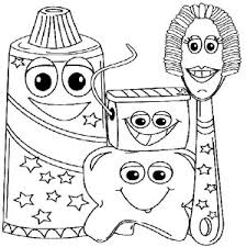 Small Picture Spectacular Design Dental Health Month Coloring Pages Teeth