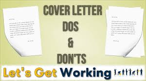 cover letter dos and don ts cover letter writing dos donts