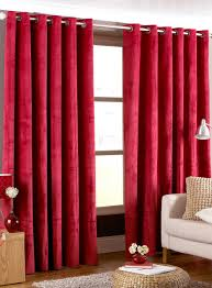 Drop Dead Gorgeous Accessories For Window Treatment Decoration Using Modern Red  Curtain : Awesome Picture Of