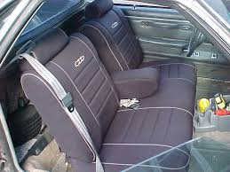 chevrolet el camino full piping seat covers