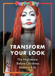 party city makeup kits and transform into sally from nightmare before this