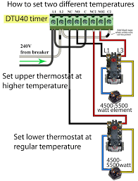 how to wire tork dtu40 timer change water heater temperature using dtu40 timer