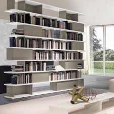 Wall Mount Bookcase Wall Mounted Bookcase Contemporary Melamine Z401 Zalf