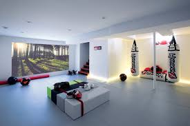 home gym lighting. home gym design ideas basement contemporary with equipment recessed lighting mixed martial arts g