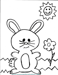 Easter Bunny Coloring Page Simple Design