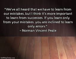 Learning From Mistakes Quotes Cool Quote About Learning From Our MIstakes Self Help Daily