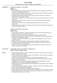 Technical Product Manager Resume Samples Velvet Jobs