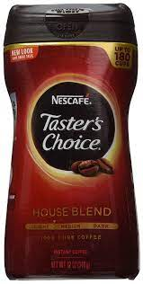 Instant coffee shootout.folgers vs tasters choice. Amazon Com Nescafe Taster S Choice House Blend Instant Coffee 12 Oz Tasters Choice Gourmet Grocery Gourmet Food