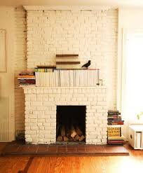 painting brick whiteAwesome Painting Brick Fireplace White Ideas  Home Fireplaces