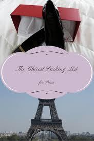 Paris Packing List - Frugal First Class Travel