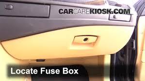 interior fuse box location 2004 2010 bmw 525i 2007 bmw 525i 3 0 locate interior fuse box and remove cover