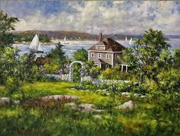 artist gary shepard 18x24 ocean view oil painting