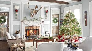 Living Room Christmas Decor 26 Best Christmas Home Tours Houses Decorated For Christmas
