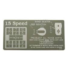 15 Speed Shift Pattern Impressive Semi Truck Interior 48 Speed OD RTO Shifter Plate Iowa48