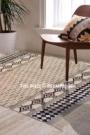 indian block print area kilim rug carpet cotton dhurrie rugs