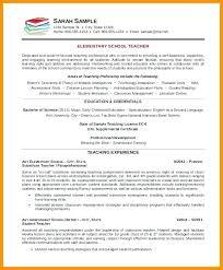 School Teacher Resume Sample Elementary School Teacher Resume Sample 59