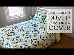 how to make a duvet cover you