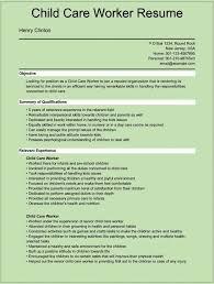 Resume Resume Examples For Child Care Benaffleckweb Worksheets