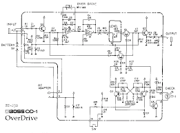 boss od 1 overdrive guitar pedal schematic diagram boss od 1 overdrive pedal schematic diagram