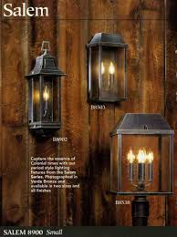 colonial style outdoor light fixtures