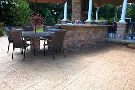 covered stamped concrete patio. Concrete Waterfall Bar And Table Covered Stamped Concrete Patio