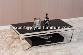 modern living room furniture stainless steel frame glass top coffee table tea table cocktail table side sofa table