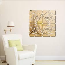 fashion diy rose mirror decor wall sticker living room on diy 3d mirror wall art with diy mirror wall art elitflat