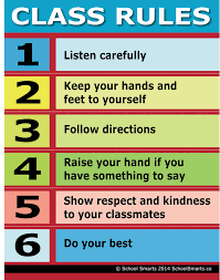 Good Manners Chart For Class 1 Class Rules Chart By School Smarts Durable Material Rolled And Sealed In Plastic Poster Sleeve For Protection Discounts Are In The Special Offers