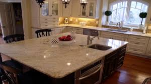 Cream Kitchen Cabinets Millenium Cream Granite Kitchen White