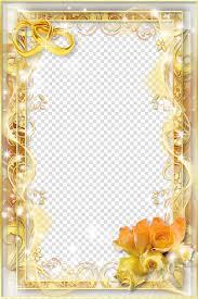 Wedding Photo Background Wedding Invitation Frame Wedding Frame Yellow Flower