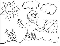 Disegni Sullestate Da Stampare E Colorare Per Bambini Foto