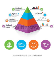 Weather Tree Chart Pyramid Chart Template Travel Icons Sail Stock Vector