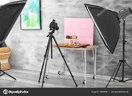 Professional Photography Studio Lighting Equipment Photo Studio With Professional Lighting Equipment Stock