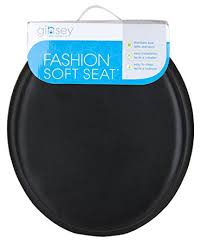 black soft toilet seat. ginsey home solutions standard soft toilet seat with plastic hinges, medium, black l