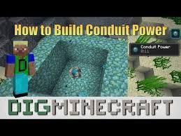 how to build conduit power in minecraft