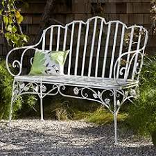 white iron outdoor furniture. exellent furniture ivy scroll antique white iron outdoor bench in furniture
