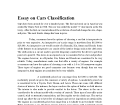 essay on cars today consumers have the options of choosing a car document image preview