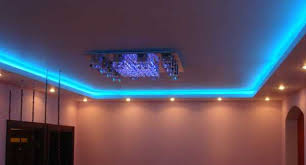 spiral ceiling design. blue color lighting