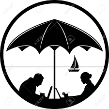 仕事や旅行のアイコンフリーランスのアイコン ベクトルdownshifters アイコンのベクトル黒と白無料の仕事コ